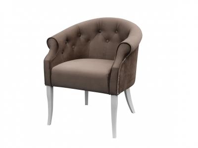 Кресло Милан Энигма Коричневая белые опоры