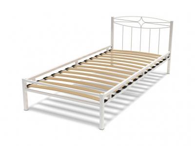 Кровать 90 Юнга-1 металлическая Белый глянец