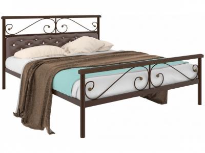Кровать Эсмеральда plus мягкая коричневая
