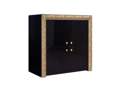 Пенал 4-х дверный ТФП-3(П) Тиффани Премиум Черное золото