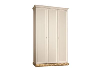 Шкаф 3-х дверный без зеркал для платья и белья ТФШ2/3 Тиффани Штрих золото