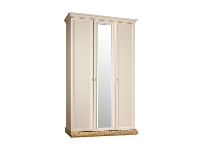 Шкаф 3-х дверный с зеркалом для платья и белья ТФШ1/3 Тиффани Штрих золото