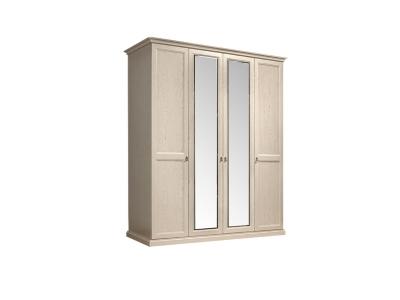 Шкаф 4-х дверный 2 зеркала для платья и белья ВНШ1/4 Венеция
