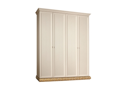 Шкаф 4-х дверный без зеркал для платья и белья ТФШ2/4 Тиффани Штрих золото