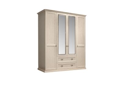 Шкаф 4-х дверный с зеркалами для платья и белья с выдвижными ящиками ВНШ1/41 Венеция