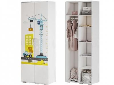 Шкаф для одежды ШК-09 Трио белый/логика