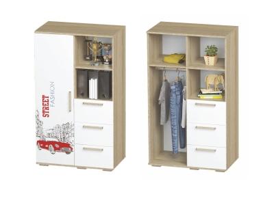 Шкаф многофункциональный Сенди ШК-10 802х1376х460 для мальчика
