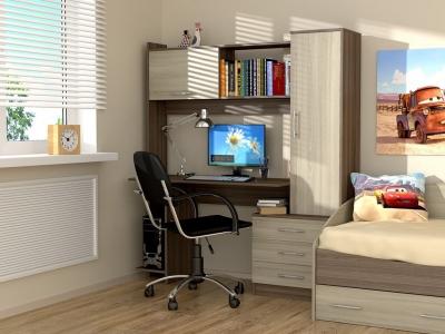 Стол компьютерный Рубин Ясень шимо тёмный - Ясень шимо светлый