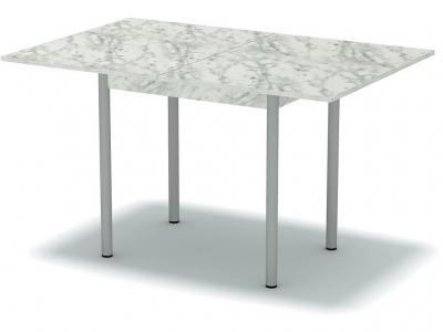 Стол обеденный раскладной Мрамор - ноги серые