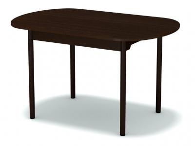 Стол раздвижной закругленный Венге - ноги коричневые